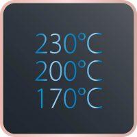 3 ρυθμιζόμενες θερμοκρασίες: