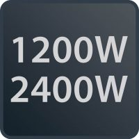 2400 W και 1200 W σε λειτουργία silence (45 dB(A))