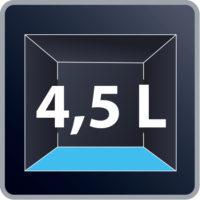 Χωρητικότητα XL: 4.5 λίτρων